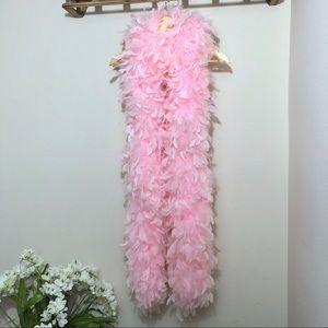 "Pink Feather Boa Soft Large Long 80"""